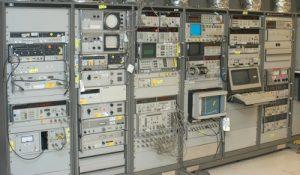 Racks of test equipment